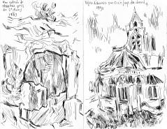 Vincent Van Gogh - Carrière / Église d'Auvers-sud-Oise